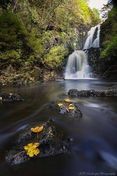 River Rha double waterfall, Uig, Isle of Skye, Scotland