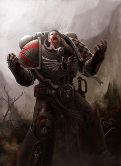 Warhammer 40k Art by Bayu Pratama - Marine
