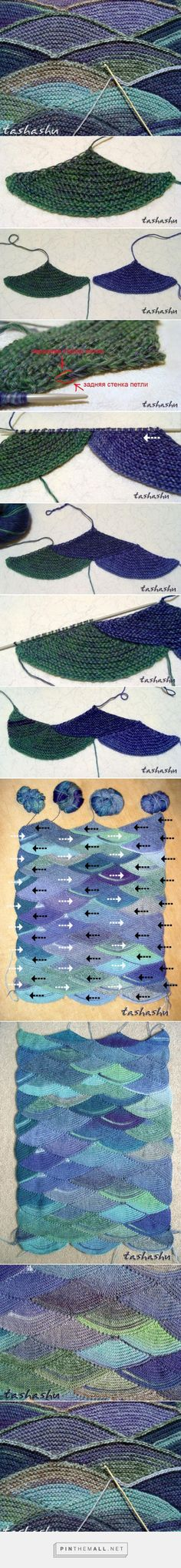 Knitted blanket: shell-shaped blocks. Lovely colour scheme ~~ http://www.liveinternet.ru/users/dakka_-_l/rubric/1677886/ ~~ LiveInternet.