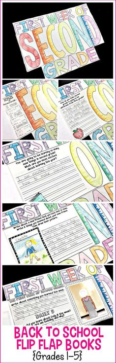 This First Day of Second Grade Flip Flap Book is the perfect activity for your First Day or Week of School.  It gets your kiddos writing, reading, and communicating with their new friends. The best part is that it also has a Last Day of School! The studen