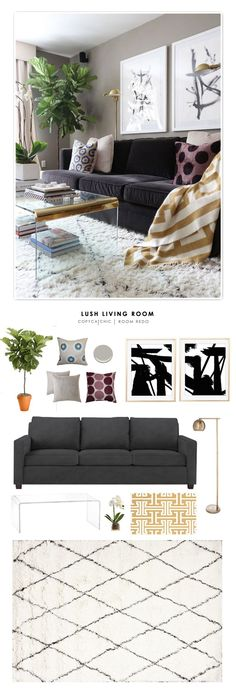 Copy Cat Chic Room Redo | Lush Living Room                                                                                                                                                     More