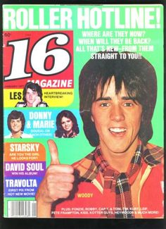 16 Teen Magazine Jan 1977 Bay City Rollers Fonzie Leif Kiss Travolta Centerfold