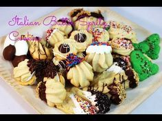 Make Dozens of Assorted Butter Spritz Cookies with 1 recipe! - YouTube