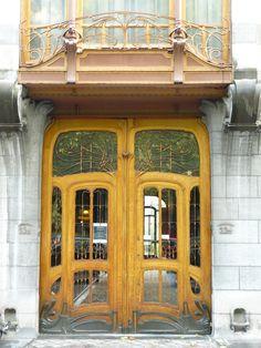 Bruxelles art nouveau (Belgique), sur l'avenue Louise, hôtel Solvay (1895-1900, Victor Horta, architecte)