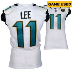 78061e80ad7b Marqise Lee Jacksonville Jaguars Fanatics Authentic Game-Used #11 White  Jersey from the AFC Championship Game vs. New England Patriots on January  21, 2018 ...