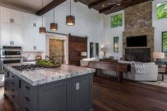Next Post Previous Post Inviting modern mountain home surrounded by forest in North Carolina rustic-kitchen Next Post Previous Post Home Decor Kitchen, Rustic Kitchen, Home Kitchens, Kitchen Ideas, Kitchen Furniture, Condo Furniture, Kitchen Pictures, Deco Furniture, Dream Kitchens