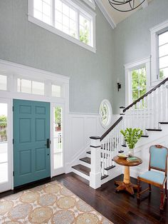 Love the idea of painting the inside of the front door. Also the molding around the windows.