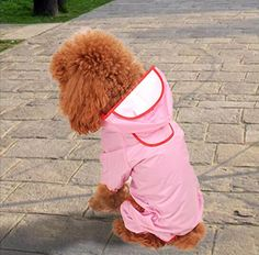 Petparty Dog Raincoat Waterproof Cute~ -- Check out the image by visiting the link. (This is an affiliate link and I receive a commission for the sales) Dog Raincoat, Dog Coats, Pet Dogs, Dog Lovers, Image Link, Check, Cute, Coats For Dogs, Doggies