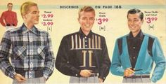 1957 Men's shirts. Can you see the western influence?