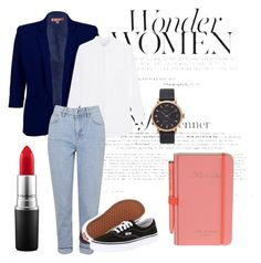 Au boulot by estellenath on Polyvore featuring mode, Jadicted, Jolie Moi, Topshop, Vans, Marc Jacobs, MAC Cosmetics, Wild & Wolf and Work