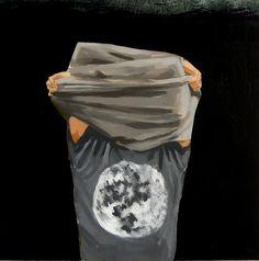 My Moon . art print of man in moon shirt