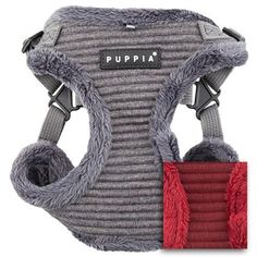A quilted small dog harness by Puppia.