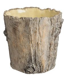 Look at this #zulilyfind! Large Tree Bark Planter #zulilyfinds