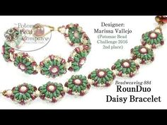 RounDuo Daisy Bracelet Design Tutorials (2nd Place PBC Challenge 2016) - YouTube