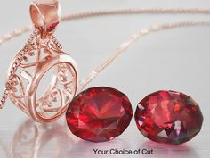 """Starplosion™ or Sunglitz™ 12x10mm Oval Cut Mystic Flame Feldspar and 18kt Rose Gold Over Sterling Silver Pendant Casting & 18"""" Box Chain - Your Choice of Cut"""