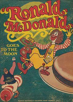 McDonald's coloring book featuring Mr. Muscle...Ronald McDonald's early nemesis.