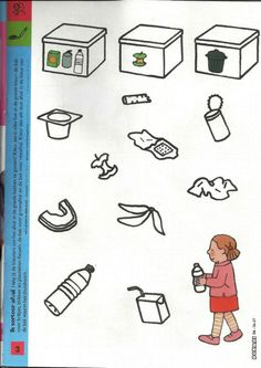 werkblad afval sorteren Earth Day Projects, Projects To Try, Teaching Vocabulary, Crafts For Kids, Diy Crafts, Classroom Projects, Preschool Lessons, Pre School, Art Techniques