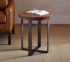 $279 sale; Waller Live-Edge Side Table | Pottery Barn