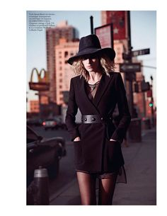 Anja Rubik for Vogue Paris, February 2013. Photographed by Mario Sorrenti. This editorial, along with the entire issue, is dedicated to NYC.