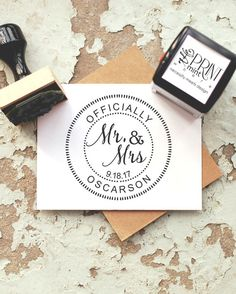 Unique Wedding Stamp Custom Wedding Stamp Wedding by ThePrintMint on Etsy