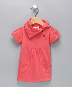 Kate Quinn Organics Coral Puff-Sleeve Organic Dress -