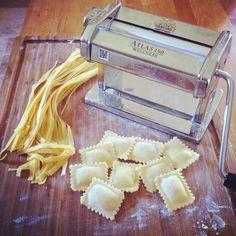 Homemade pasta, ravioli, tagliatelle, met de Marcato Atlas 150