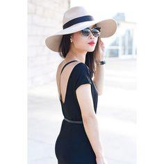 Beige Grande Fedora - summer accessories