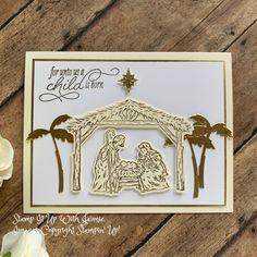 Stampin' Up! Peaceful Nativity Christmas Card – Stamp It Up with Jaimie