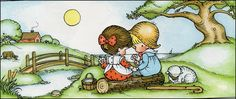 This is a really sweet picture by Joan Walsh Anglund.