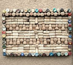 Wine cork & beer cap message board by Lolailo by Lolailo on Etsy, $39.99
