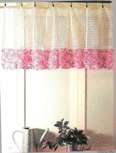 Tecendo Artes em Crochet: Uma Cortina Linda e Delicada!