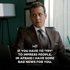 Harvey Specter Suits, Suits Harvey, Wisdom Quotes, Quotes To Live By, Life Quotes, Positive Quotes, Motivational Quotes, Inspirational Quotes, Suits Quotes