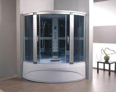 1500 X 1500 Whirlpool Corner Bath U0026 Panel Steam Shower Enclosure Cubicleu2026