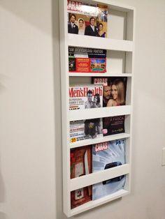porta revista de parede - revisteiro de parede branco