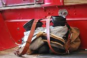 Firefighters Leather Suspenders