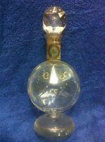 UNDOCUMENTED BACCARAT CRYSTAL ANTIQUE STAR SHAPE GLASS PERFUME BOTTLE GOLD LEAF