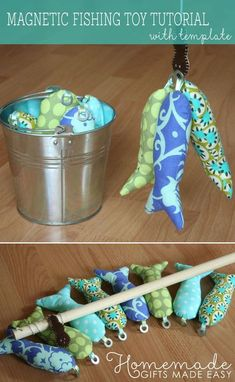 Sewing Gifts For Kids homemade magnetic fishing game - Homemade toddler toys for the wee one in your life. Make a gorgeous fishing game which will give them hours of entertainment. Free template and step by step instructions. Toddler Gifts, Toddler Toys, Sewing Projects For Beginners, Sewing Tutorials, Sewing Ideas, Sewing Hacks, Kid Sewing Projects, Tutorial Sewing, Dress Tutorials