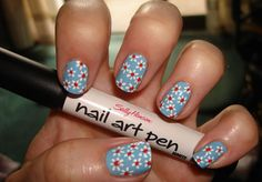 toenail art designs simple | ... Print manicure with Sally Hansen Nail Art pen | Pampered and Polished