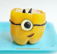 MINIONS Stuffed Peppers from KitchenFunWithMy3Sons.com
