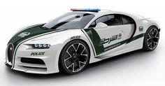 A Bugatti Chiron For Dubai's Police Force Could Look Like This #Bugatti #Bugatti_Chiron