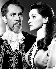 Debra Paget and Vincent Price