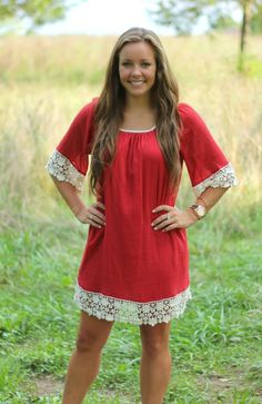 The Pink Lily Boutique - Rust Lace Dress, $38.00 (http://www.thepinklilyboutique.com/rust-lace-dress/)
