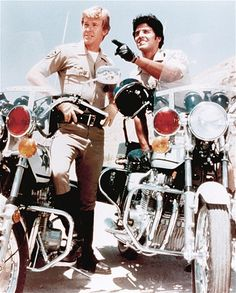 """Nobody made the California Highway Patrol look hotter than Larry Wilcox (left) and Erik Estrada in the television series """"CHIPS."""""""