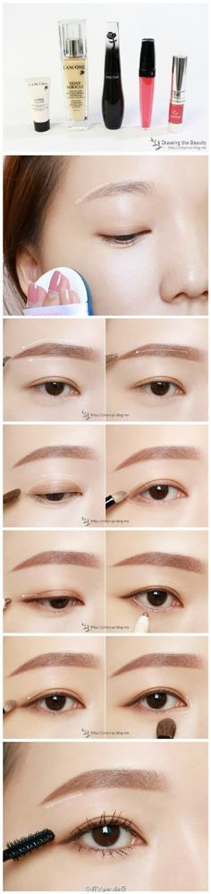 Best Ideas For Makeup Tutorials : asian makeup … Soft Eye Makeup, Korean Eye Makeup, Skin Makeup, Natural Makeup, Daily Makeup, Makeup Tips, Asian Makeup Tutorials, Asian Make Up, Ulzzang Makeup