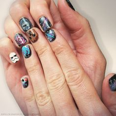 Star Wars! Uñas Star Wars, Star Wars Nails, Star Wars Timeline, Disney Nails, Love Stars, Spa Day, Beauty Nails, Girly Things, Girly Stuff