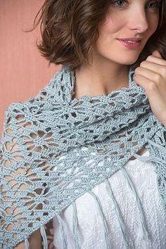 Driehoekige gehaakte sjaal   Veritas BE, #haken, gratis patroon, Nederlands, omslagdoek