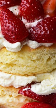 Strawberry Shortcake with Sweet Cream Cheese Biscuits