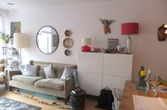 This shared family space was getting cluttered and being taken over by the kids! Enter the IKEA Home Tour Squad for this living room makeover! Ikea Home Tour, One Room Apartment, Ikea Usa, Living Spaces, Living Room, Cozy House, Home Furnishings, Small Spaces, Ikea Products
