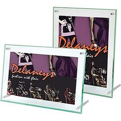 3 Pack Superior Image Beveled Edge Sign Holder, Acrylic, 11 x Clear by DEFLECT-O (Catalog Category: Furniture & Accessories / Signs) Discount Office Supplies, Online Signs, Vertical Or Horizontal, Sign Display, Clear Glass, Signage, The Creator, Lettering, Knob