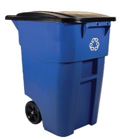 Rubbermaid Recycling Bin Commercial Recycle Can Trash Container Waste Garbage  #RubbermaidCommercialProducts
